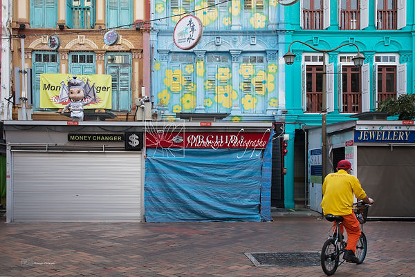 Photographs of Singapore: Chinatown (Cyclist)