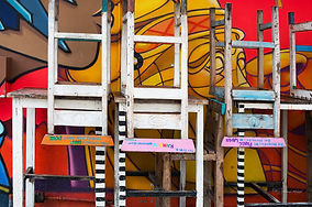Colorful chairs, Kampong Glam, Singapore.