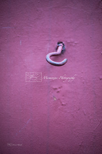 An old pink hook, street photography, Singapore.