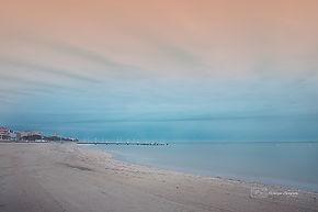Fine art photograph of the beach of Arcachon, little city on the Atlantic coast of France, near Bordeaux.