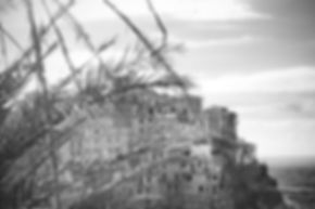 Black and White photograph of Manarola, Cinque Terre, Italy.