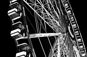 Fine art print of the ferris wheel of Paris