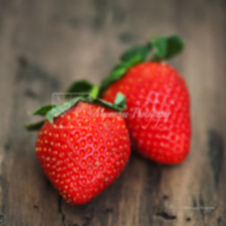Food photography: strawberries.