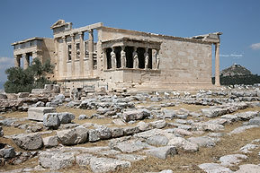 Photograph of the Acropolis in Athens, Greece.