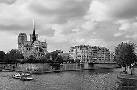 Black and White fine art photograph of the church of Notre Dame in Paris,France.