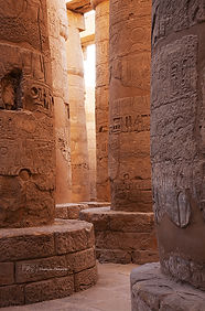 Photograph of column in the Luxor temple in Egypt.