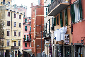 The center of Riomaggiore, Cinque terre, Italy