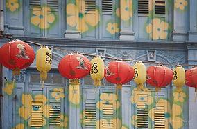 Chinese lantens celebrating the 50 year of Singapore