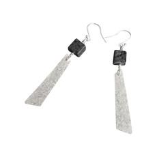 Cube earrings with danglesj