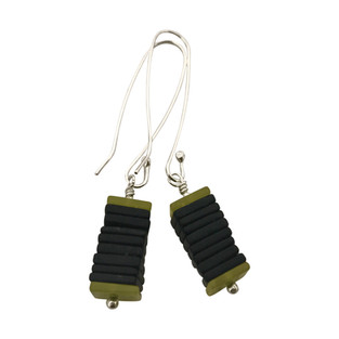 Square Slices earrings long