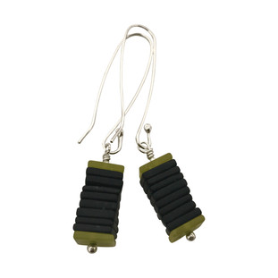 Square Slices earrings long