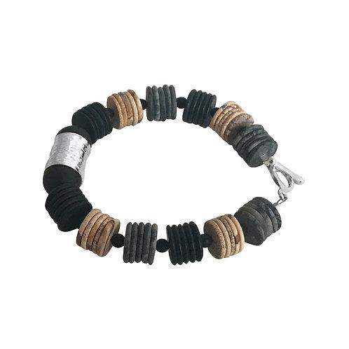 Hammered Slices bracelet