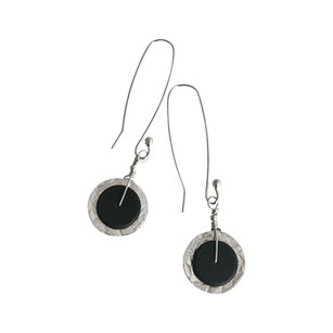 Hammered disc earrings .jpg
