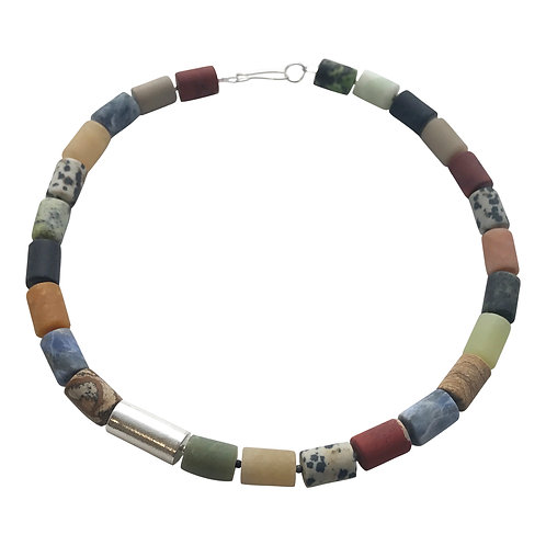 Cylinder necklace - mixed