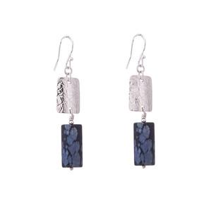 Swaged double earrings