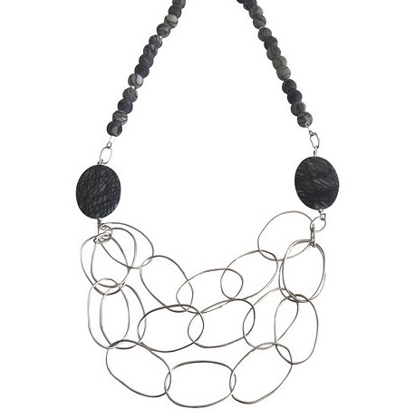 Oval multi chain link necklace