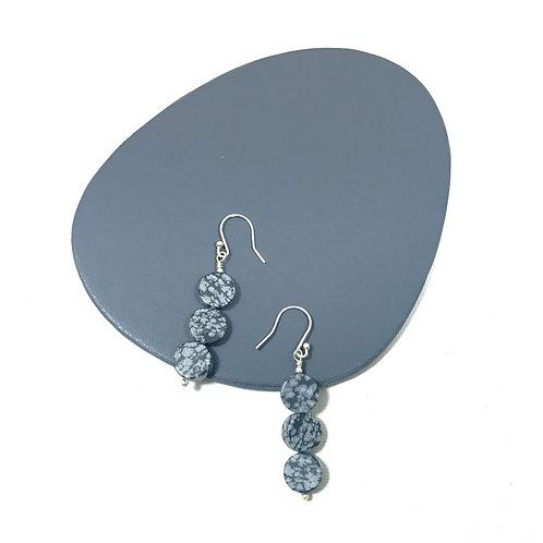 Triple coin earrings