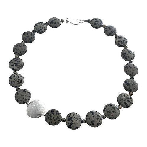 Coin necklace - Dalmatian Jasper