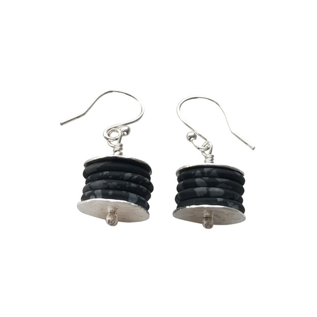 Hammered stack earrings