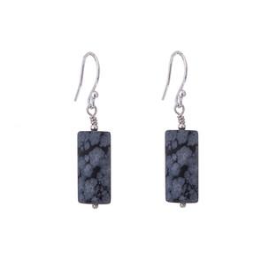 Swaged single stone earrings
