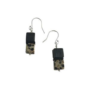 Double cube earrings