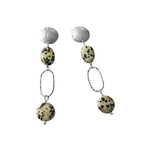 Oval disc earrings