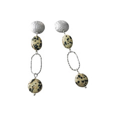 Oval_disc earrings