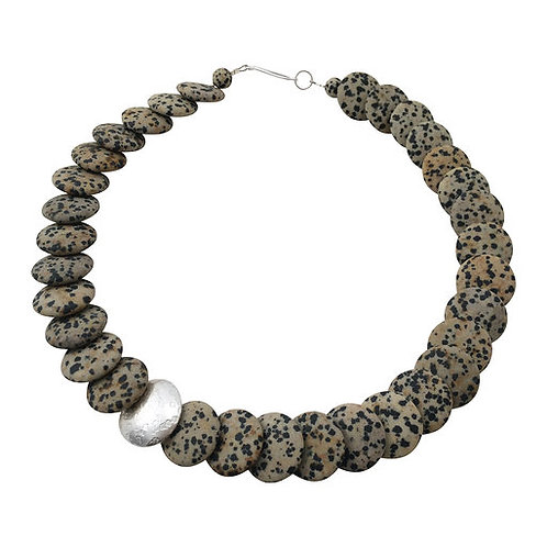 Overlapping necklace - Dalmatian Jasper