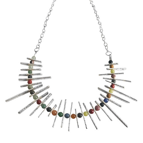 Shadow necklace - mixed stones