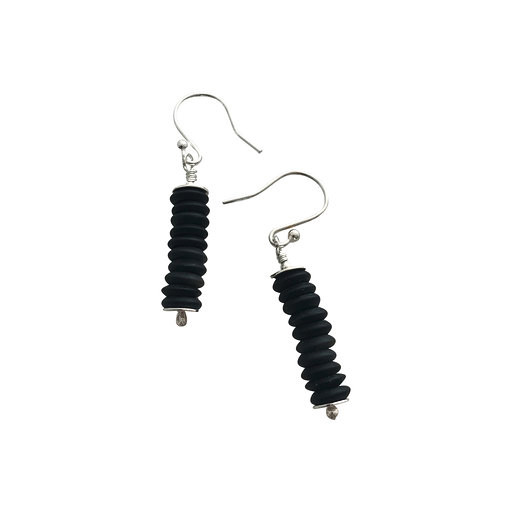 Small Slices disc earrings - short