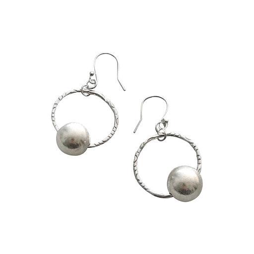 Callisto link hoop earrings