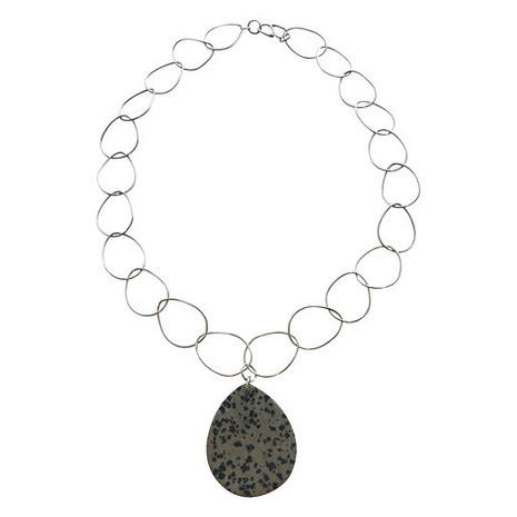 Chain link teardrop necklace