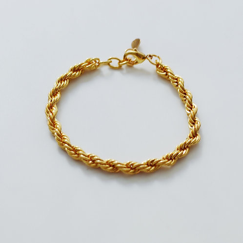 The Yellow Gold French Rope Bracelet