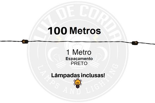 100 metros com espaçamento de 1m.