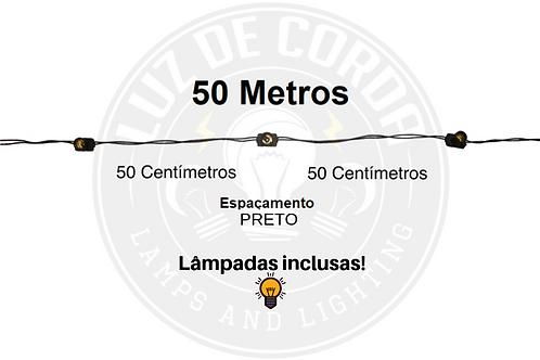 50 metros com espaçamento de 50cm.