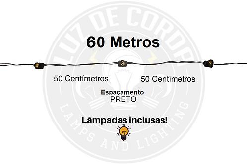 60 metros com espaçamento de 50cm.