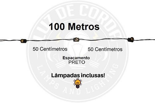 100 metros com espaçamento de 50cm.