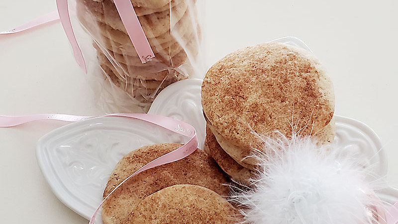 (Two) Plain Sugar Cookies with Pink Sugar OR Snickerdoodles