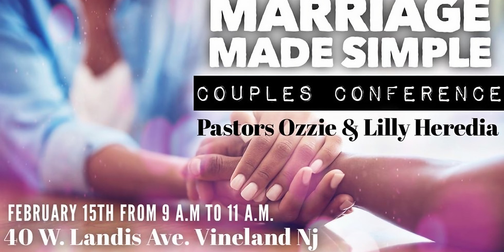 Marriage Made Simple Couples Conference