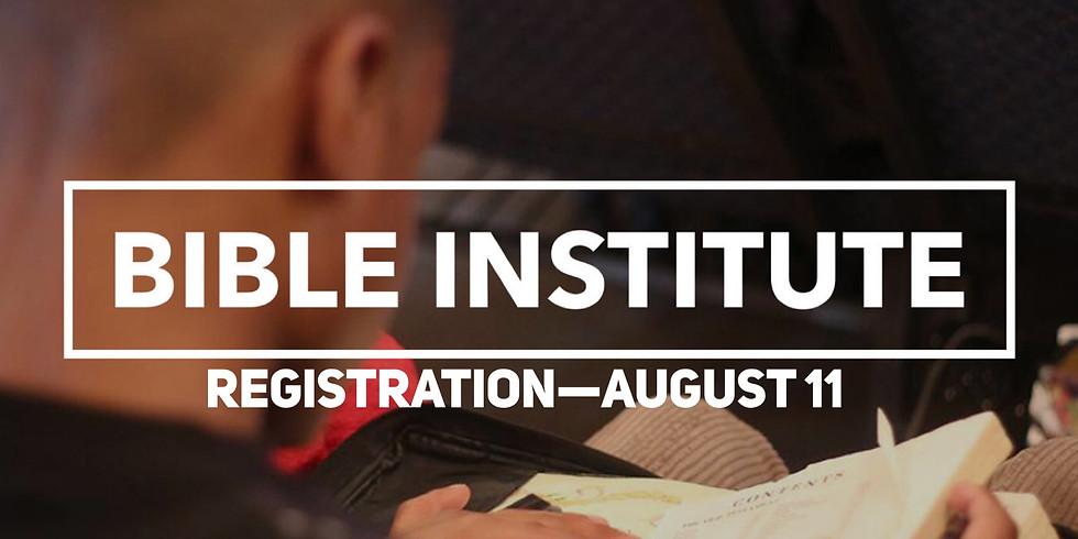 Bible Institute Registration