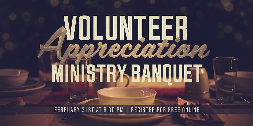 Volunteer Appreciation Ministry Banquet