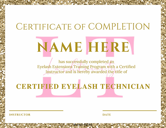 Gold Glitter Certificate of Completion