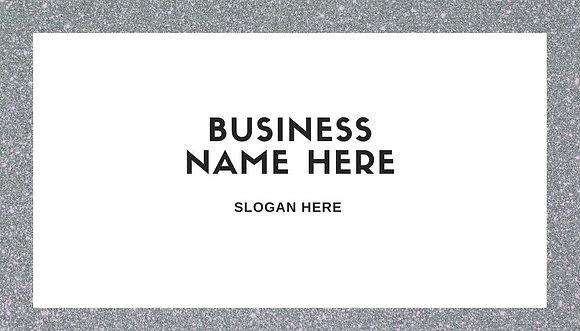 Simple Glitter Business Card