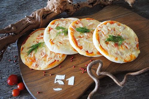 Пицца с ветчиной и томатами (4 шт.), 480 гр.
