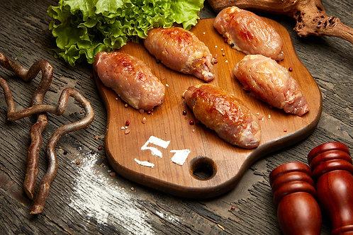 Куриные роллы, фаршированные курагой (5 шт), 750 гр.