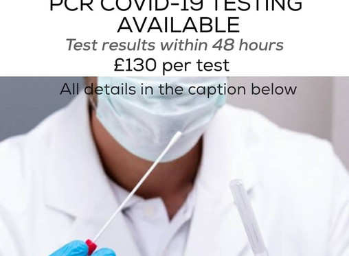 PCR COVID-19 TESTING AVAILABLE