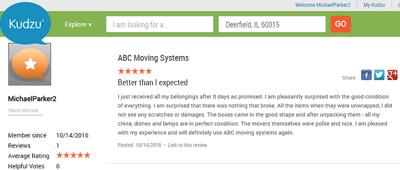Long Distance Movers | Riverwoods | ABC Moving Systems USA
