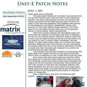 April 21' Patch Notes