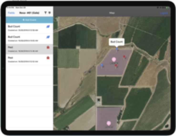 GPS Scouting App. Pest, Bud