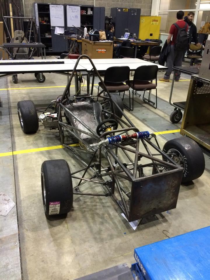 NIU Formula SAE racecar chassis tube